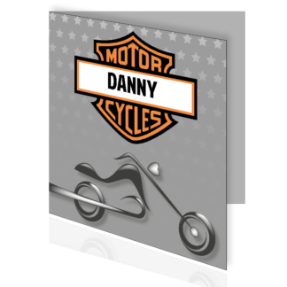 Stoer geboortekaartje in Harley Davidson stijl
