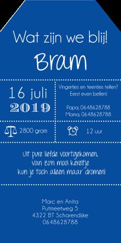 Meneer Vogel - labels - Bram