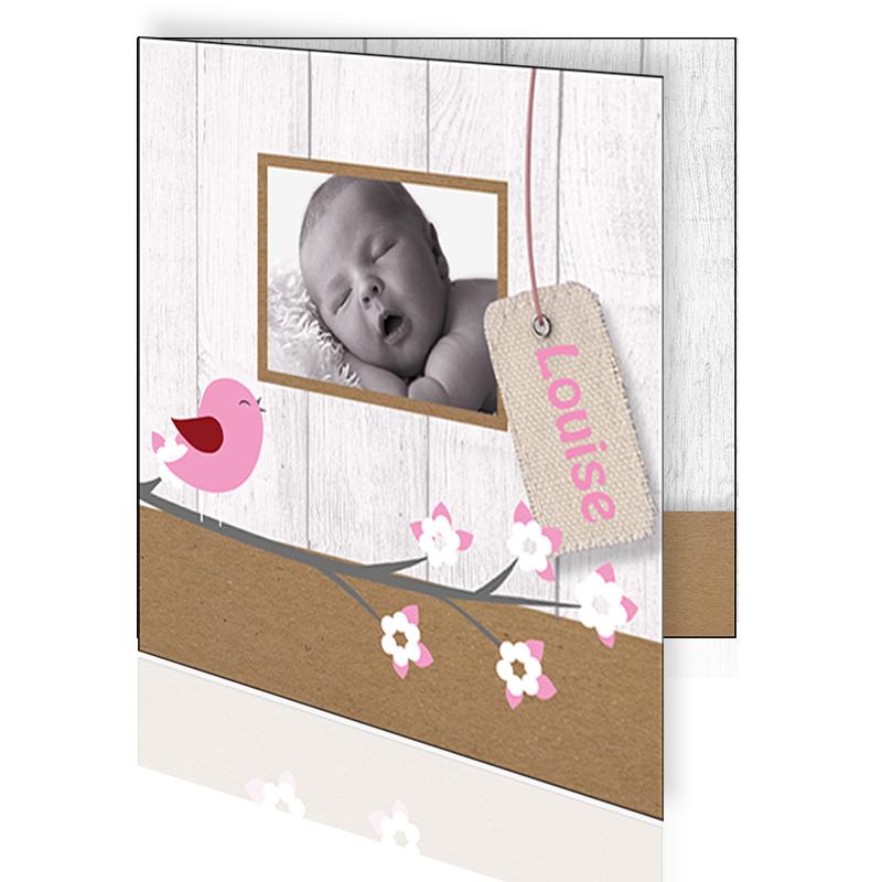 Geboortekaartje met foto meisje