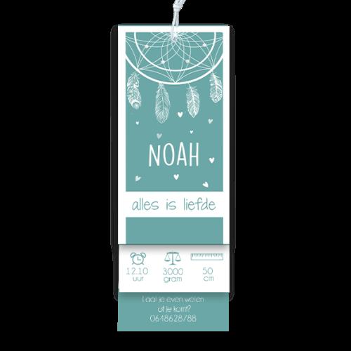 Geboortekaartje label tags droomvanger