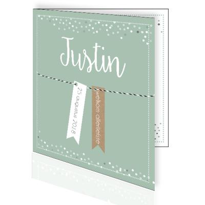 Geboortekaartje confetti en labeltjes
