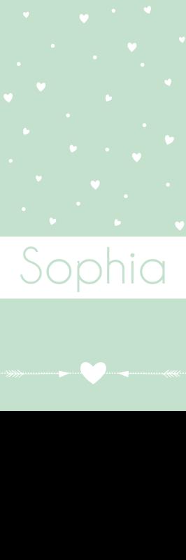 Geboortekaartje label voor een meisje