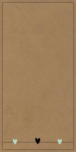 Staande kaart met los label droomvanger en veertjes