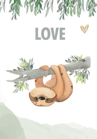 Kinderkamerposter Set Love