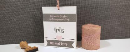 geboortekaartje tentkaartje Iris