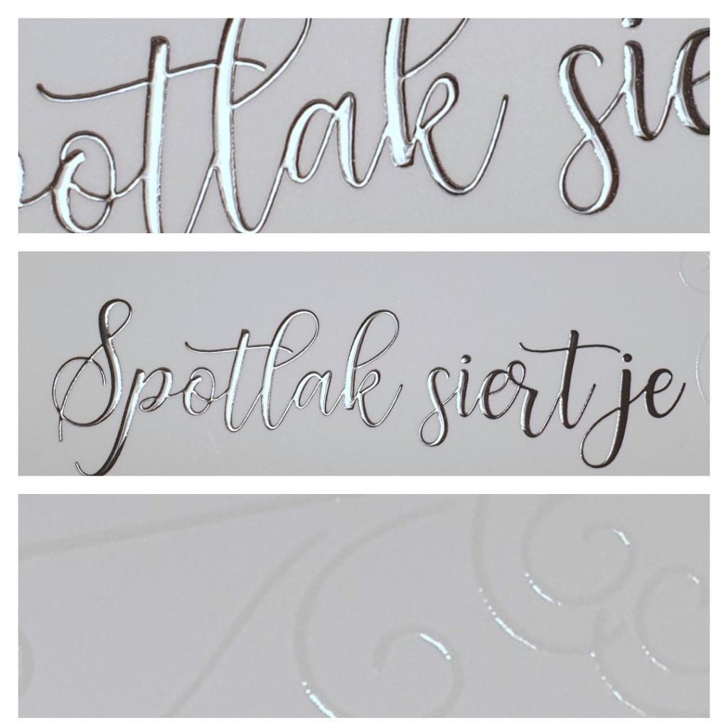 Spotlak letters zilver