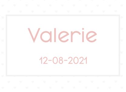 Spotlak kaartje Valerie met hartjes