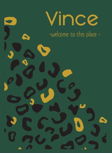 Spotlak kaartje Vince met luipaard printje