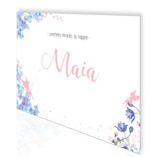 Maia magisch geboortekaartje met elfjes