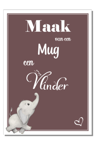 Kinderkamer Poster Mug en Olifant.