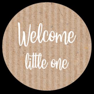 Sluitzegel Welcome little one wit