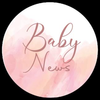 Sluitzegel Baby News waterverf roze