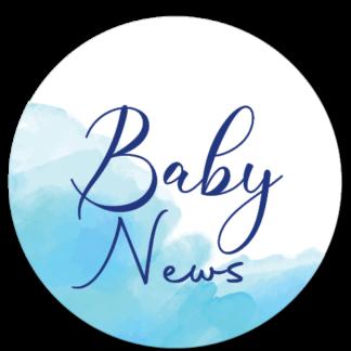 Sluitzegel Baby News waterverf blauw