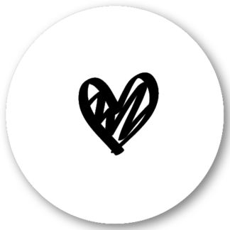 Sluitzegel hartje zwart