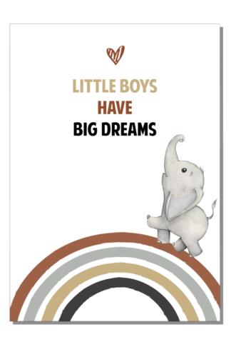 Kinderkamerposter Little boys big dreams