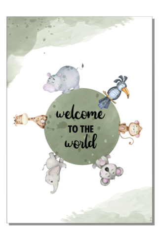 Kinderkamer poster Welcome to the world