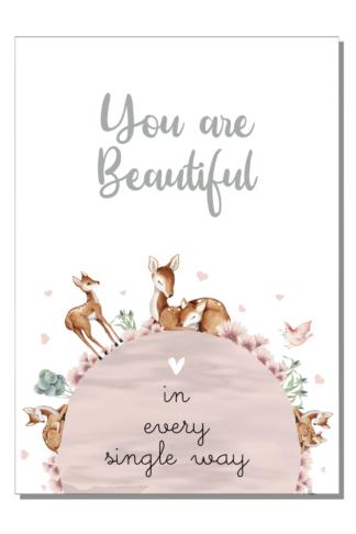 Kinderkamer poster You are beautiful