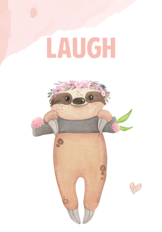 Kinderkamerposter Set Laugh meisje