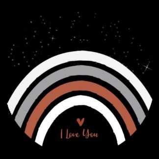 Vinyl Muurcirkel I Love You