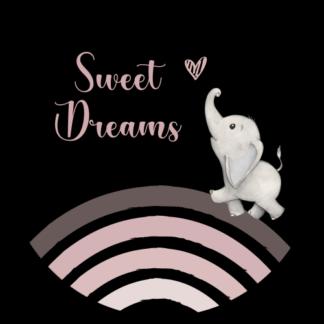 Vinyl Muurcirkel Sweet Dreams (m)
