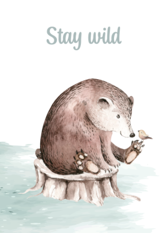 Kinderkamerposter Stay wild